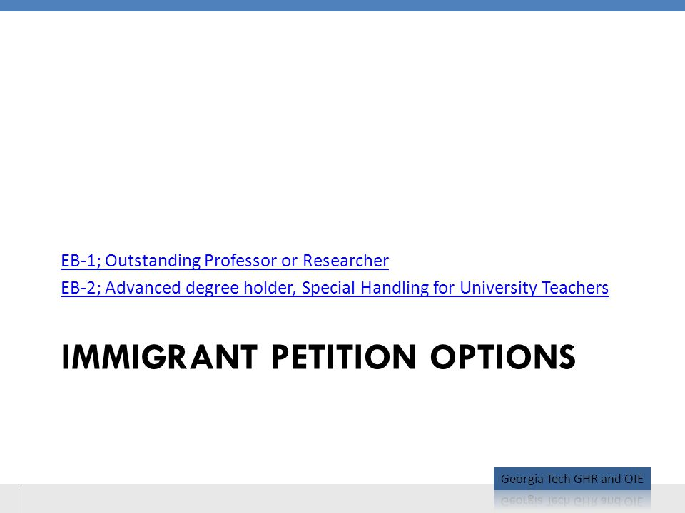 Immigrant Petition Options