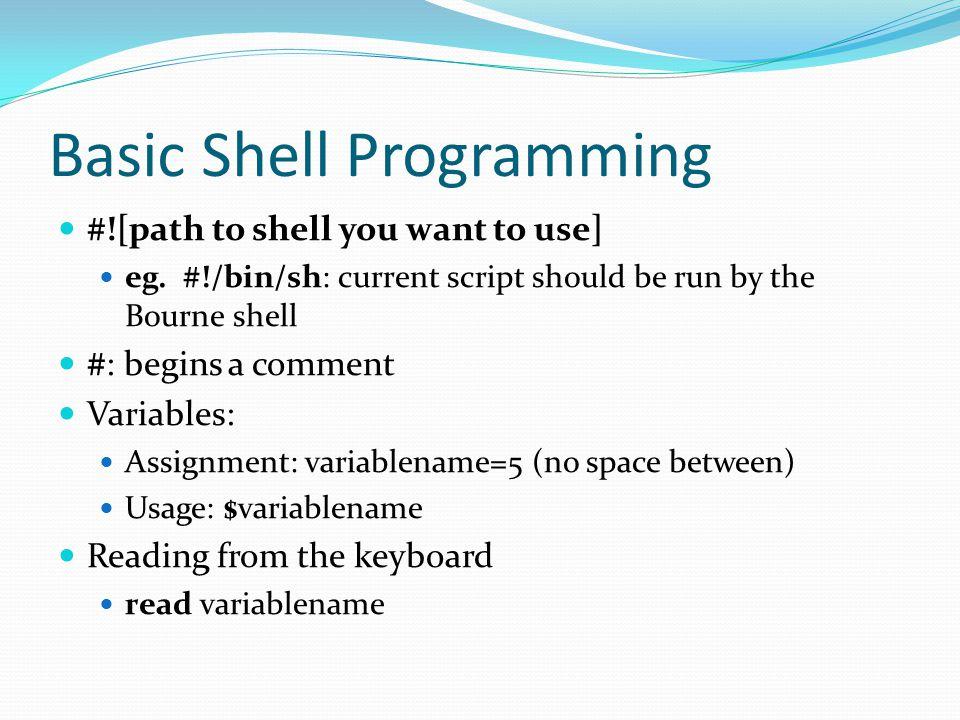 Basic Shell Programming