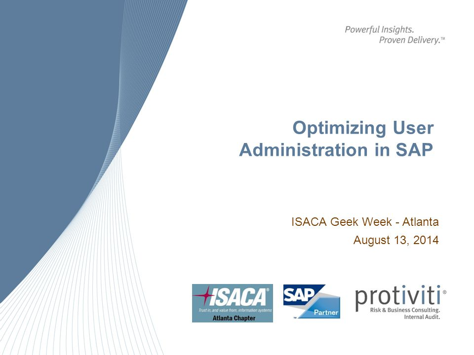 Optimizing User Administration in SAP