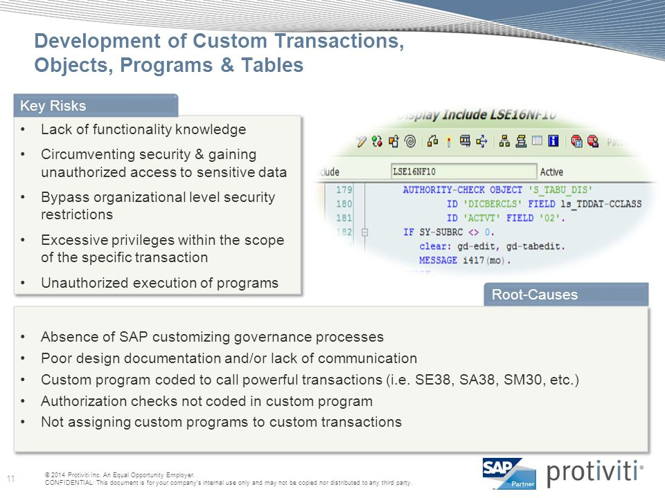 Development of Custom Transactions, Objects, Programs & Tables