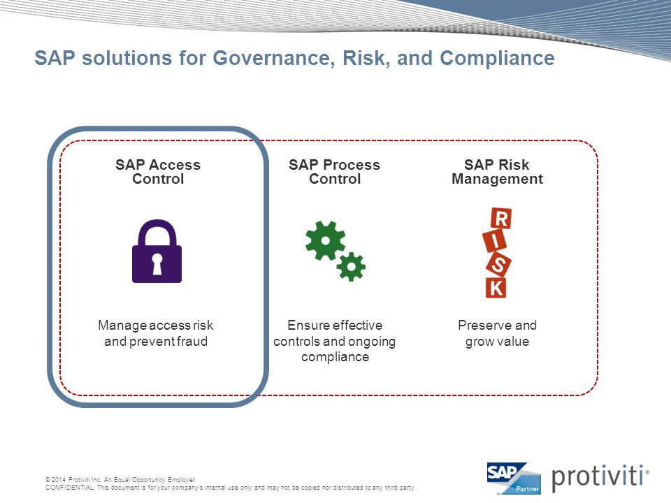 SAP solutions for Governance, Risk, and Compliance