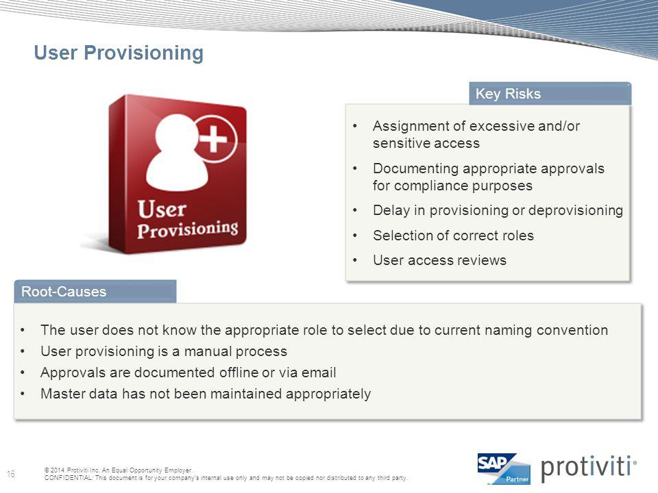 User Provisioning Key Risks
