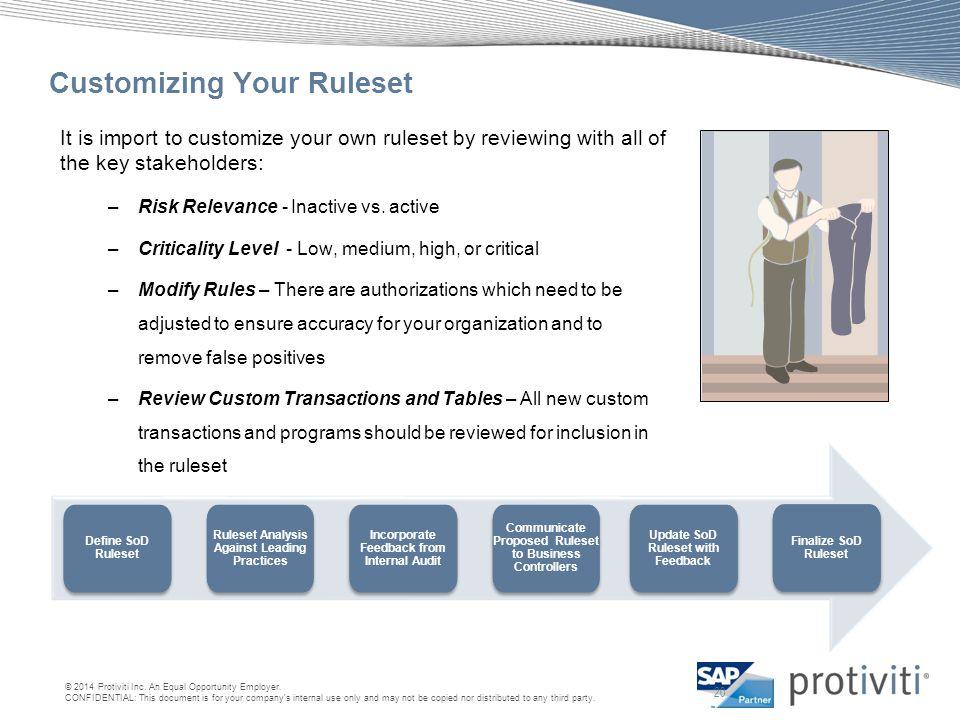 Customizing Your Ruleset