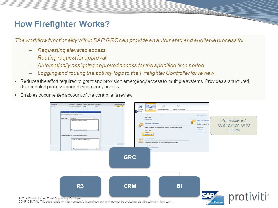 Administered Centrally on GRC System