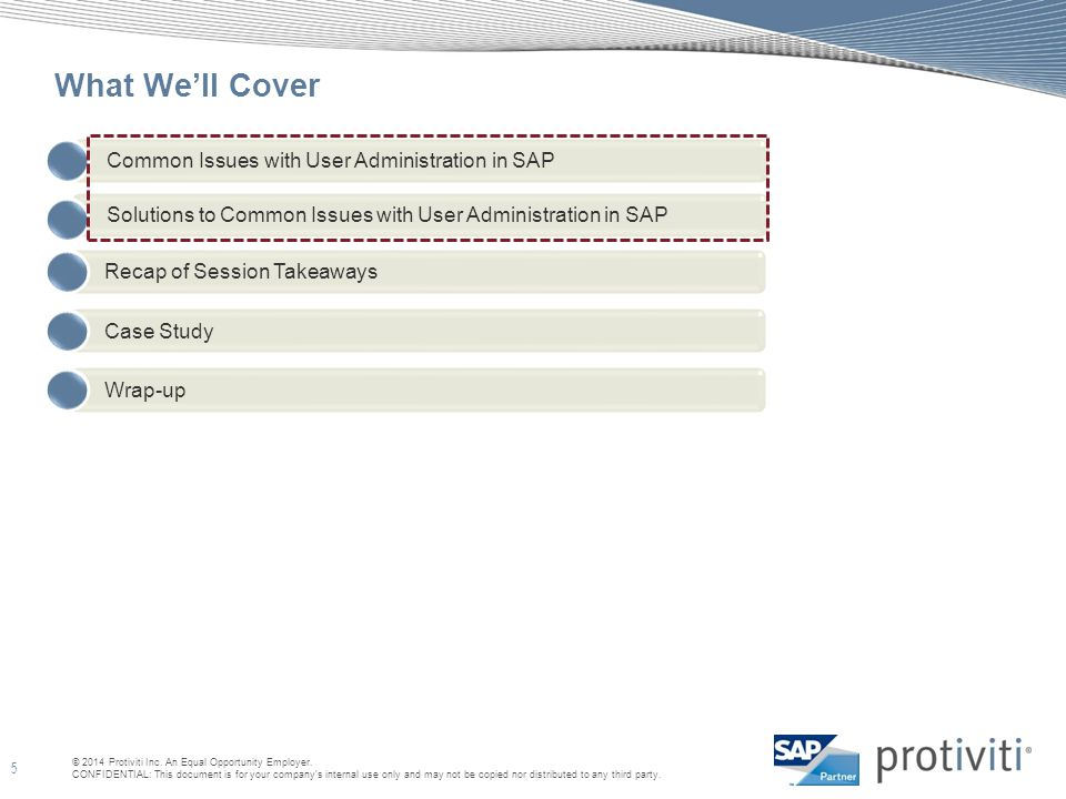 What We'll Cover Common Issues with User Administration in SAP
