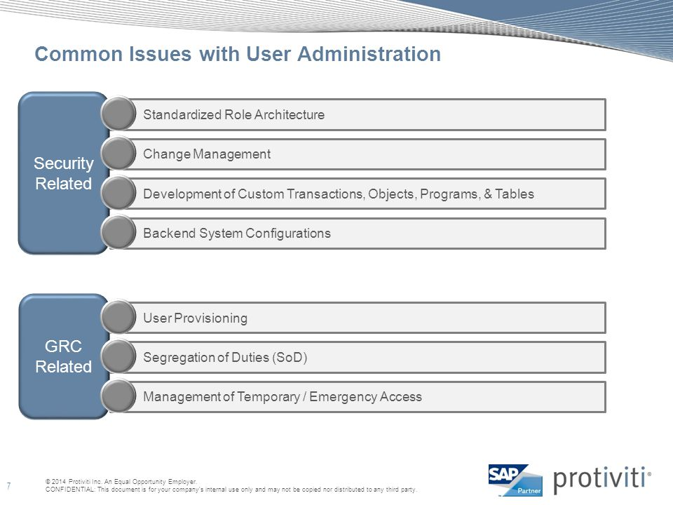 Common Issues with User Administration