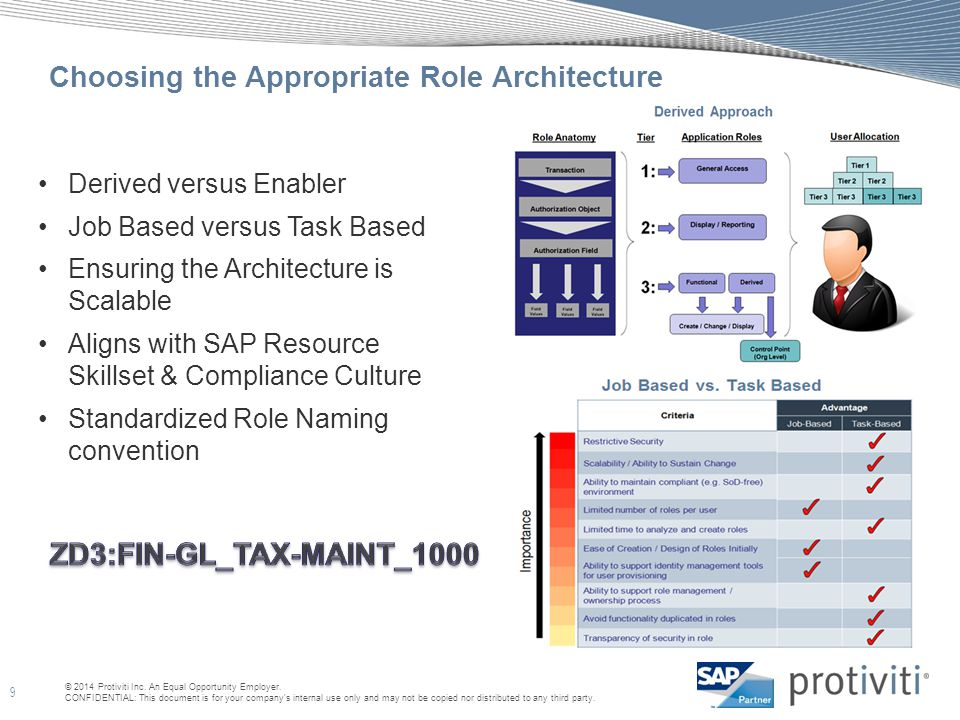 Choosing the Appropriate Role Architecture