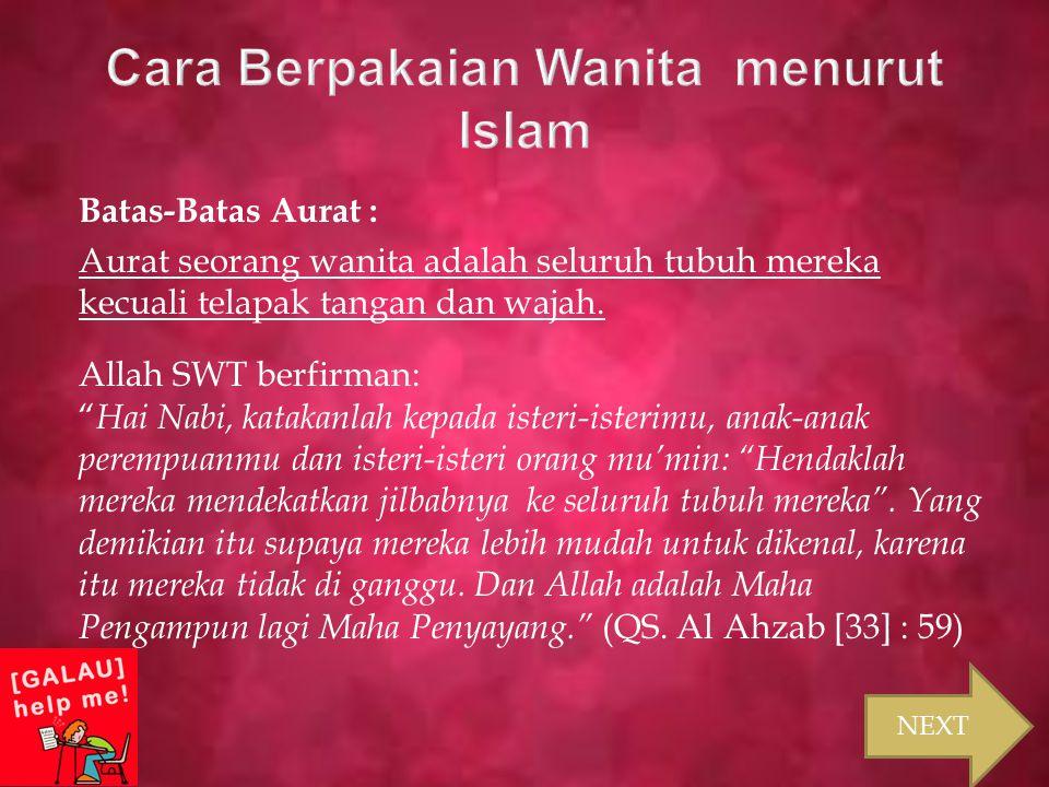 Cara Berpakaian Wanita menurut Islam