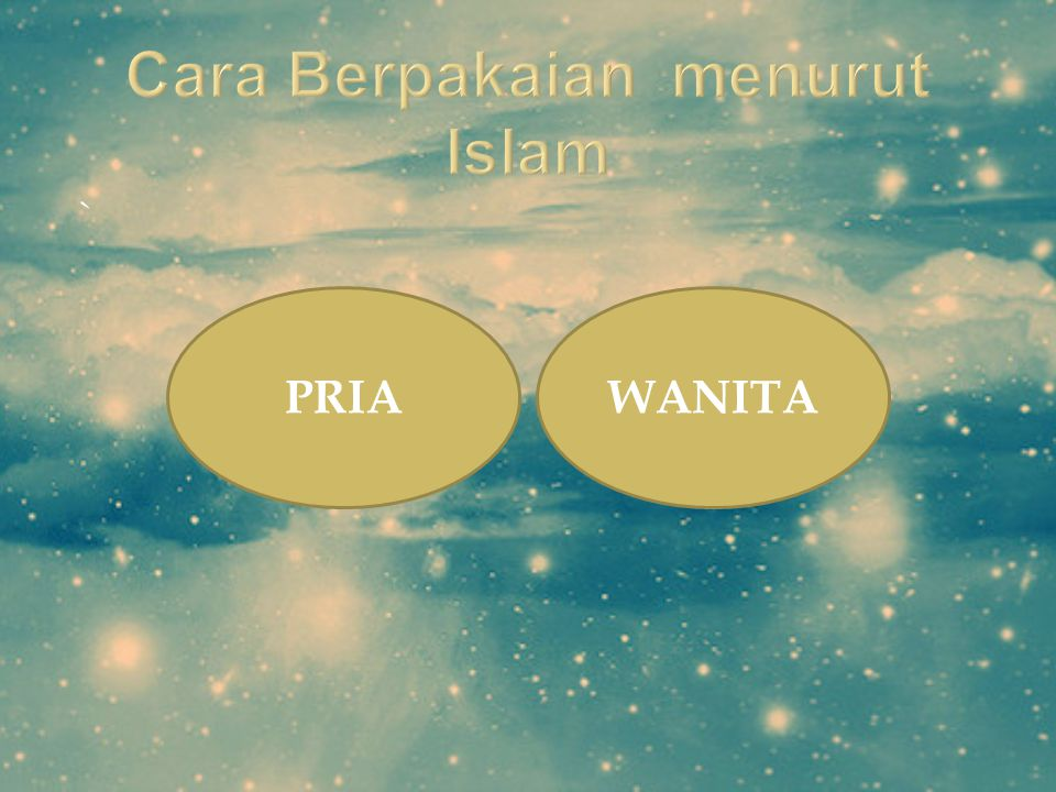 Cara Berpakaian menurut Islam