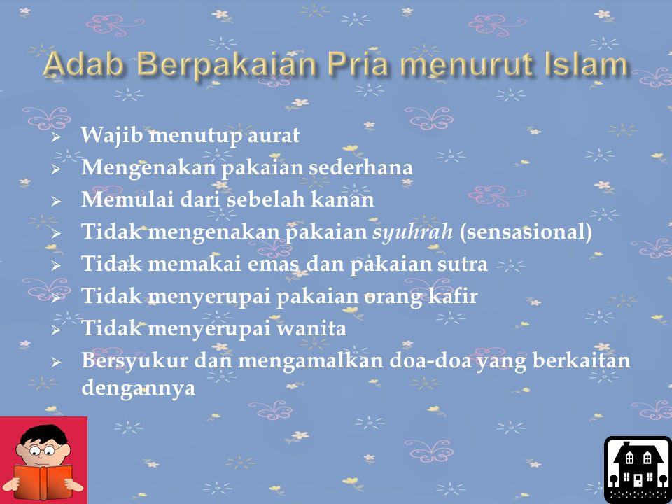 Adab Berpakaian Pria menurut Islam