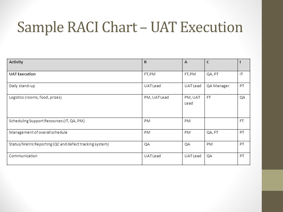 Sample Raci Chart  BesikEightyCo