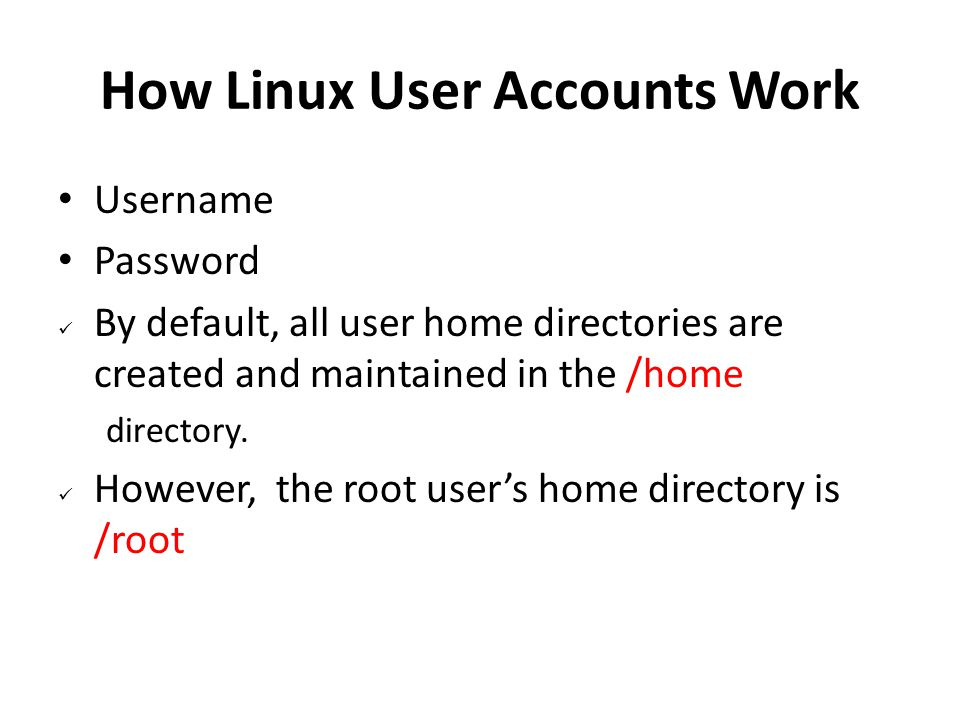 How Linux User Accounts Work