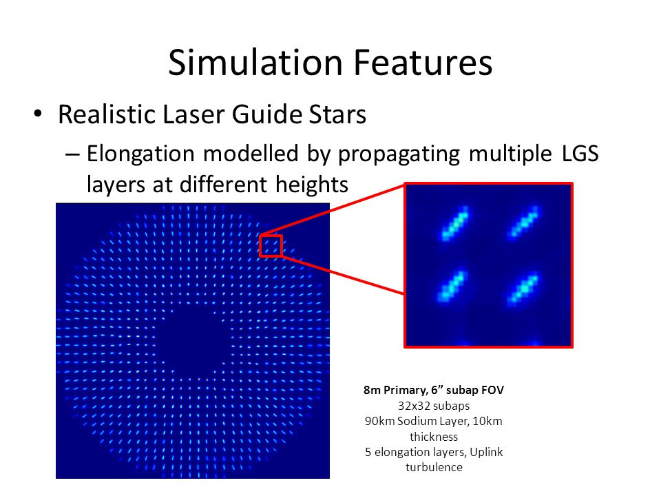 Simulation Features Realistic Laser Guide Stars
