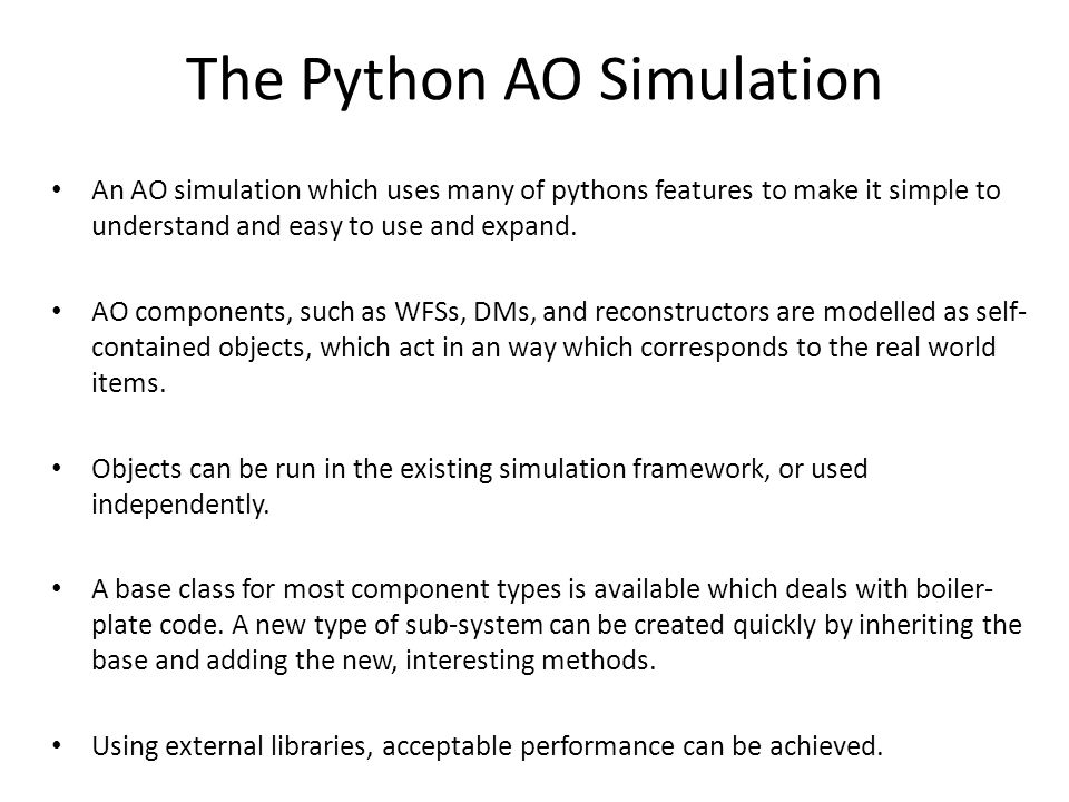 The Python AO Simulation
