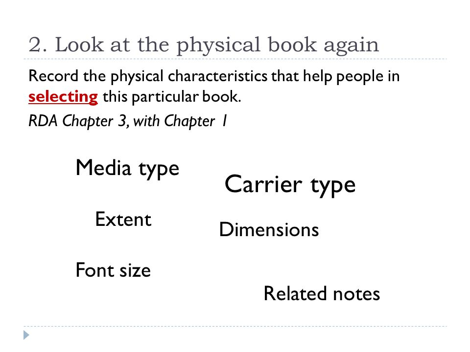2. Look at the physical book again