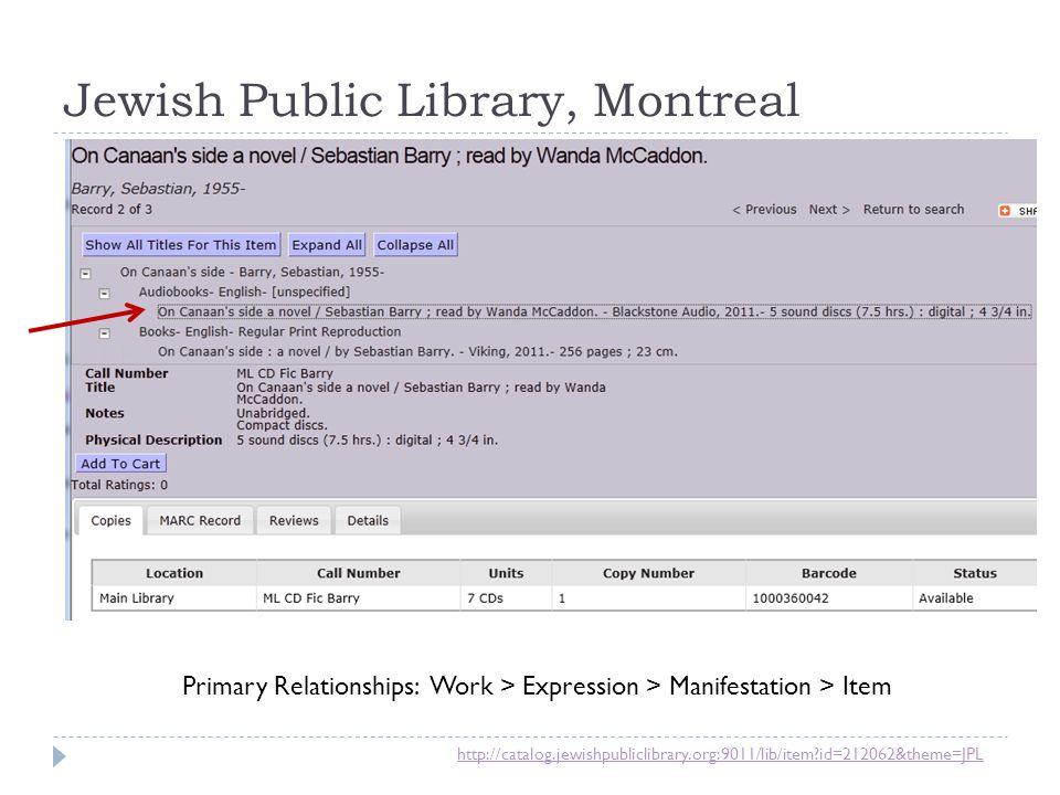 Jewish Public Library, Montreal