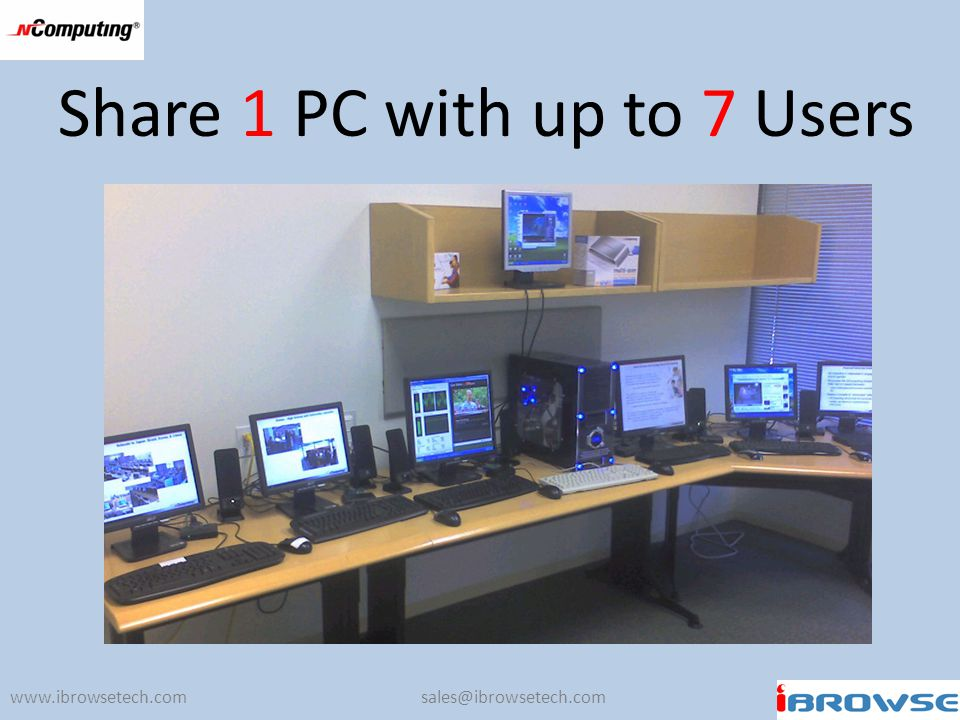 Share 1 PC with up to 7 Users