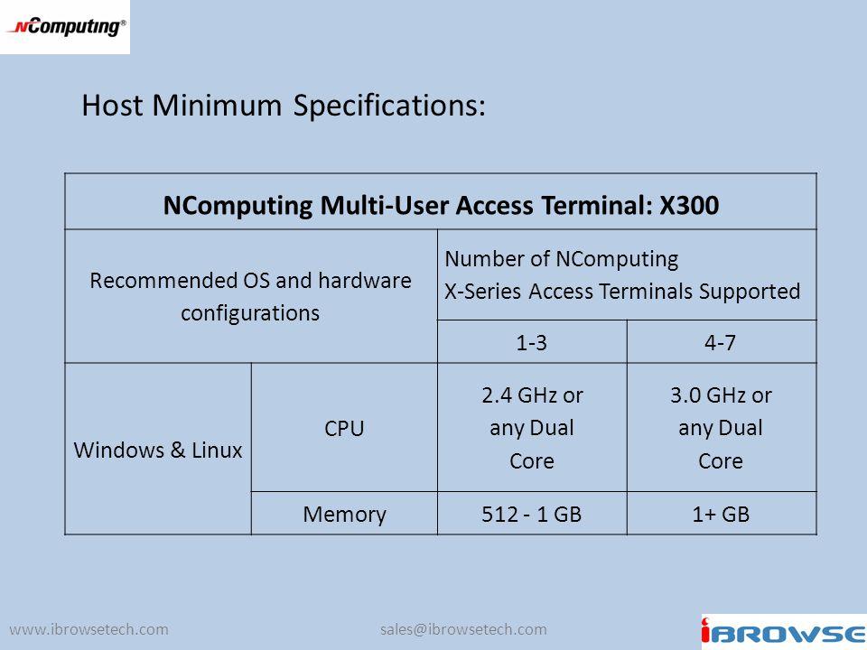 NComputing Multi-User Access Terminal: X300
