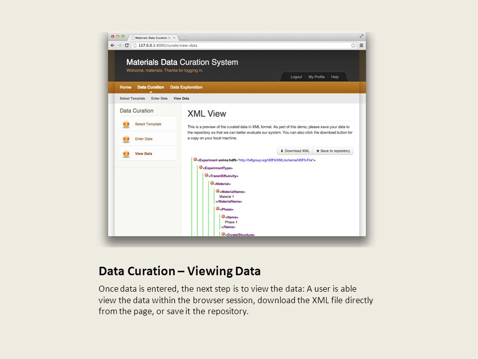 Data Curation – Viewing Data