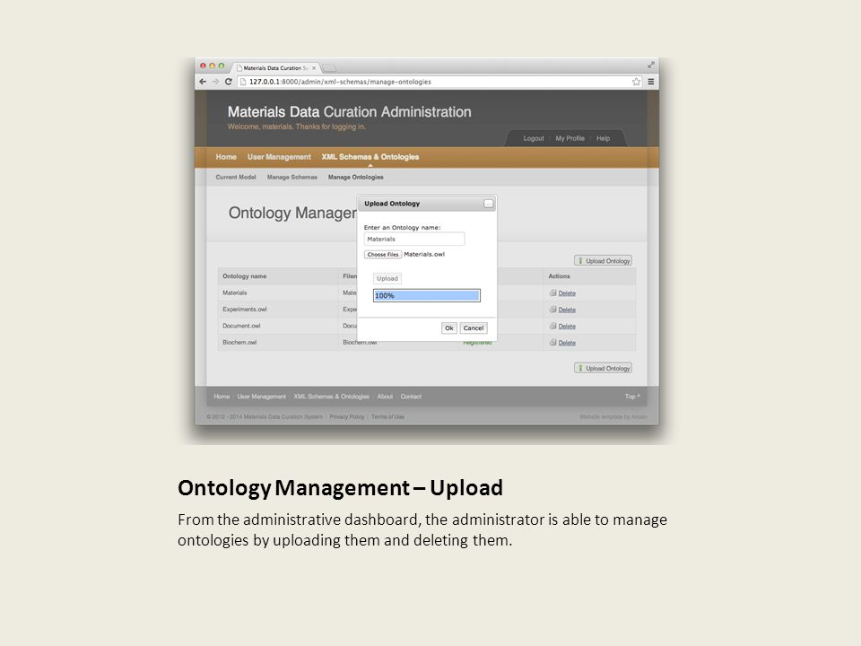 Ontology Management – Upload