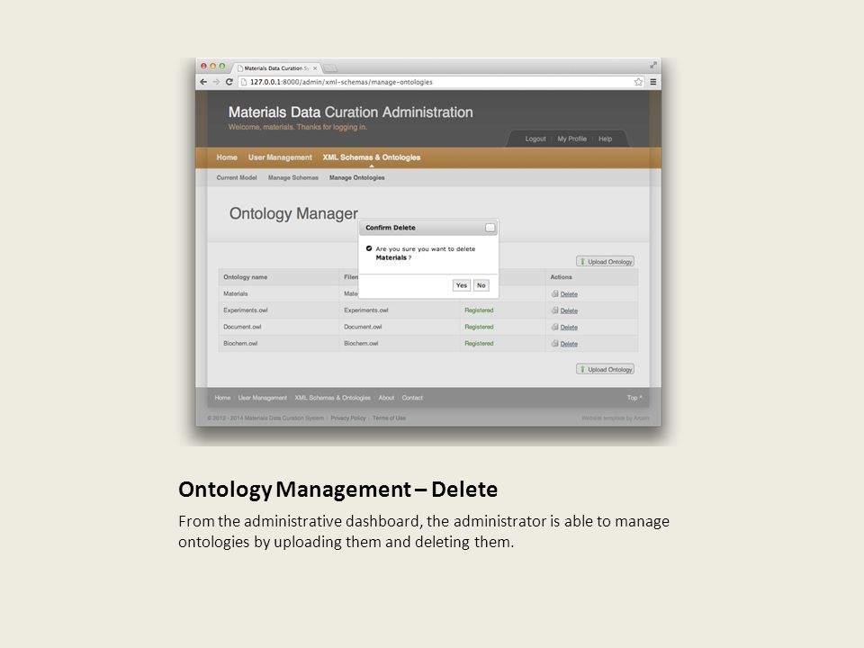 Ontology Management – Delete