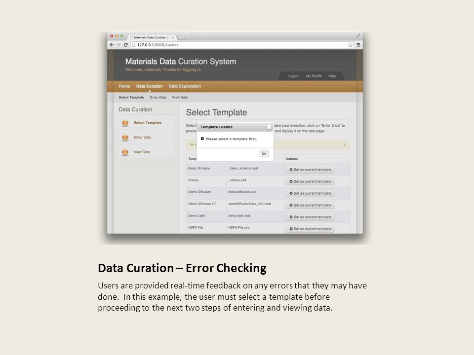 Data Curation – Error Checking