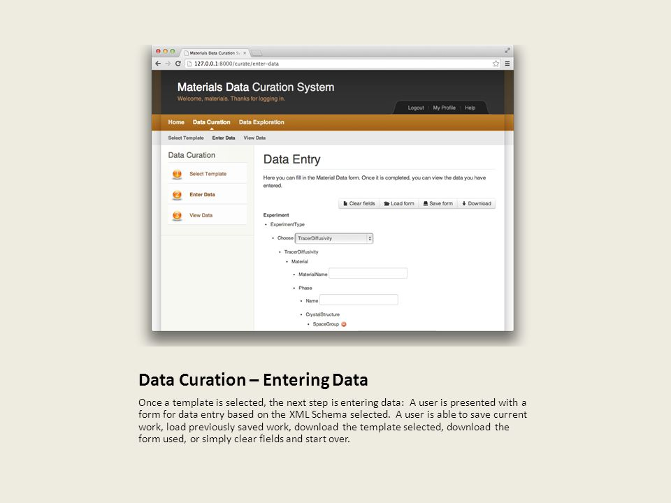 Data Curation – Entering Data