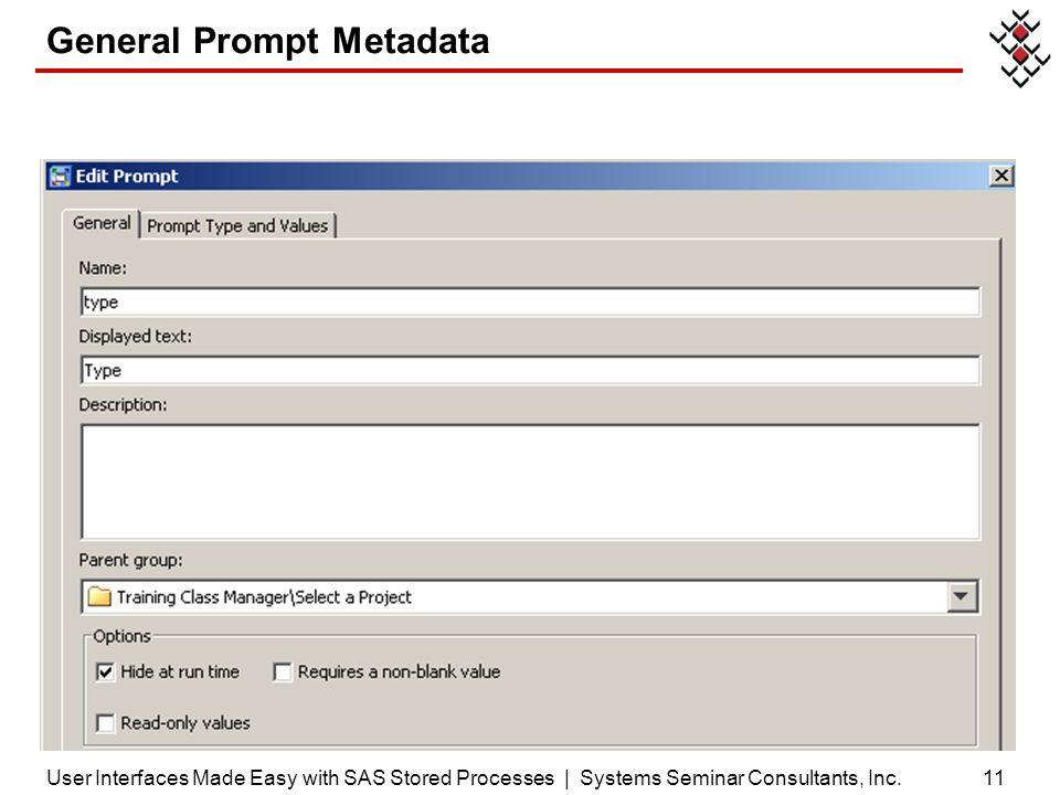 General Prompt Metadata
