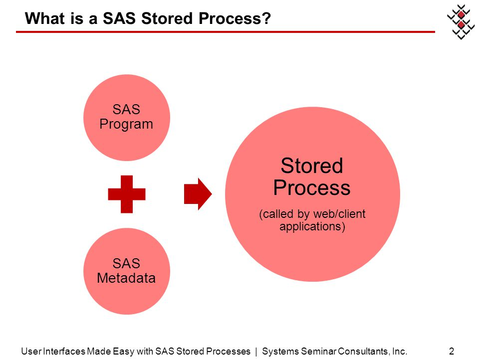 What is a SAS Stored Process