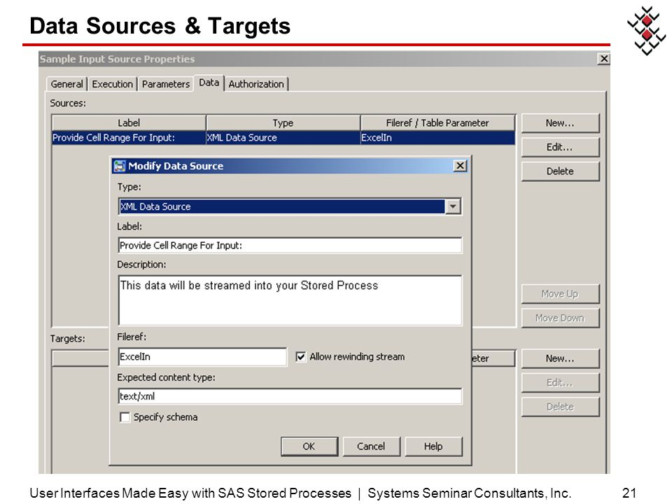 Data Sources & Targets