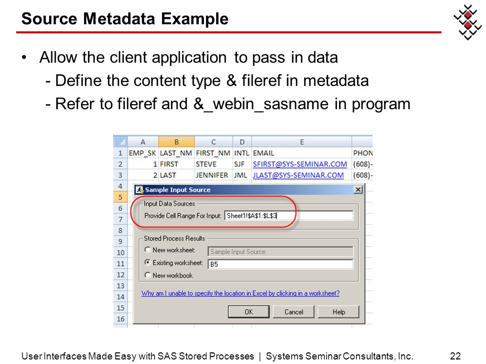 Source Metadata Example