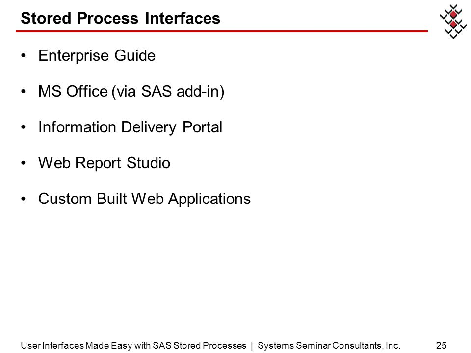 Stored Process Interfaces