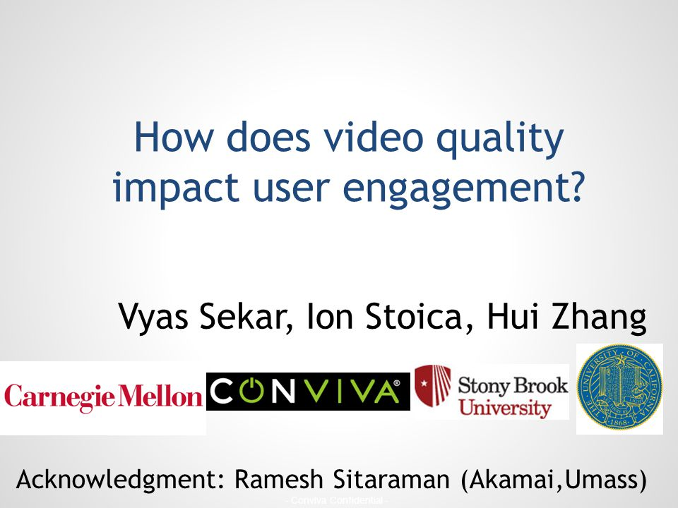 How does video quality impact user engagement