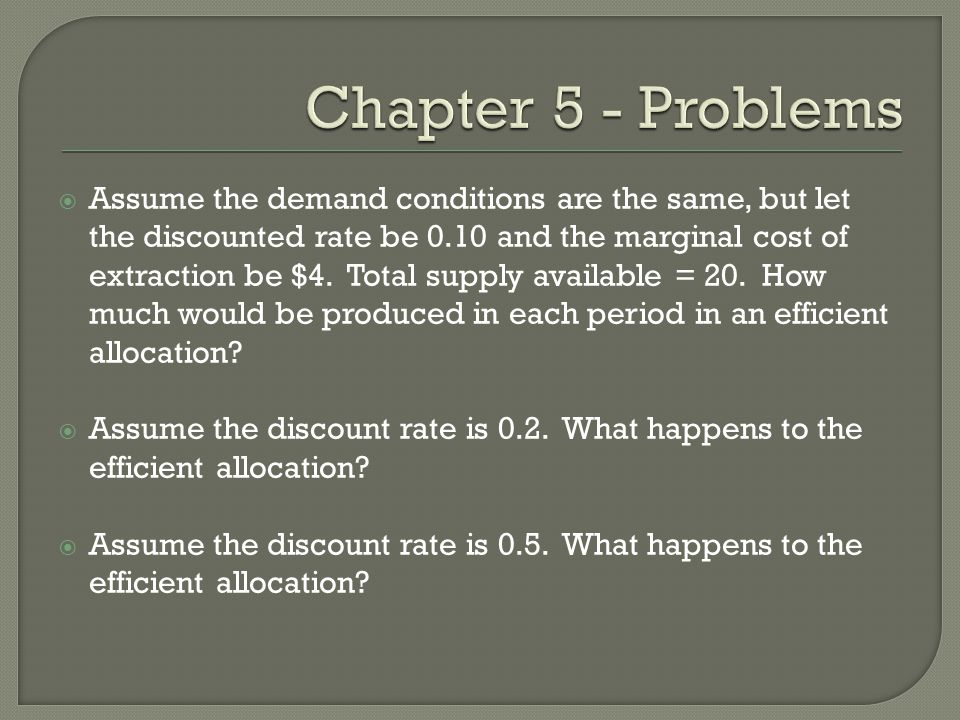 Chapter 5 - Problems