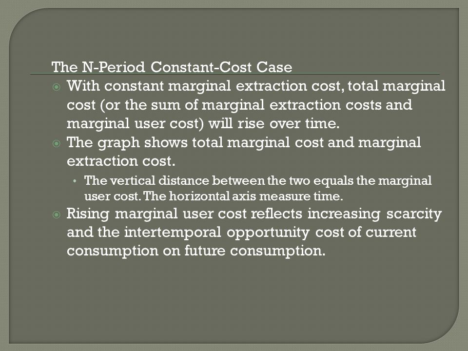 The N-Period Constant-Cost Case