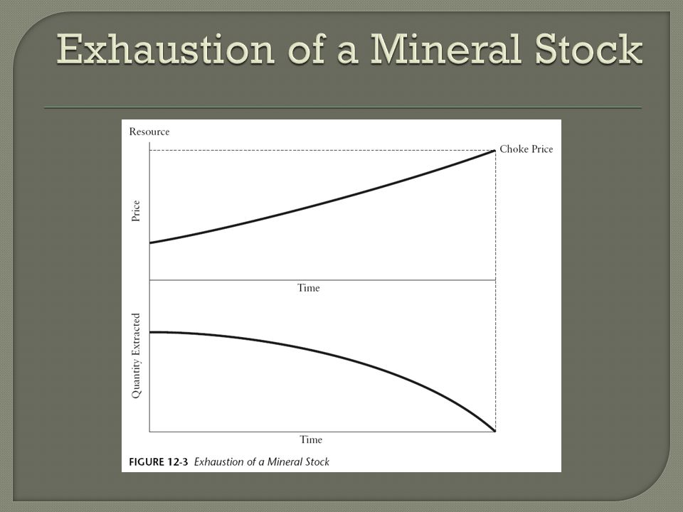 Exhaustion of a Mineral Stock
