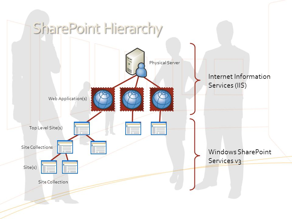 SharePoint Hierarchy Internet Information Services (IIS)