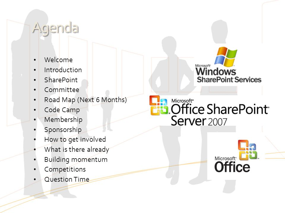 Agenda Welcome Introduction SharePoint Committee