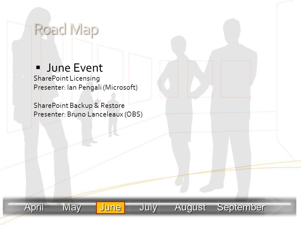 Road Map June Event April May June July August September