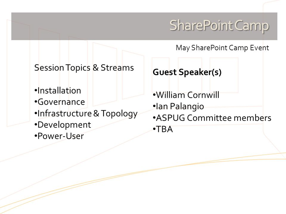 May SharePoint Camp Event