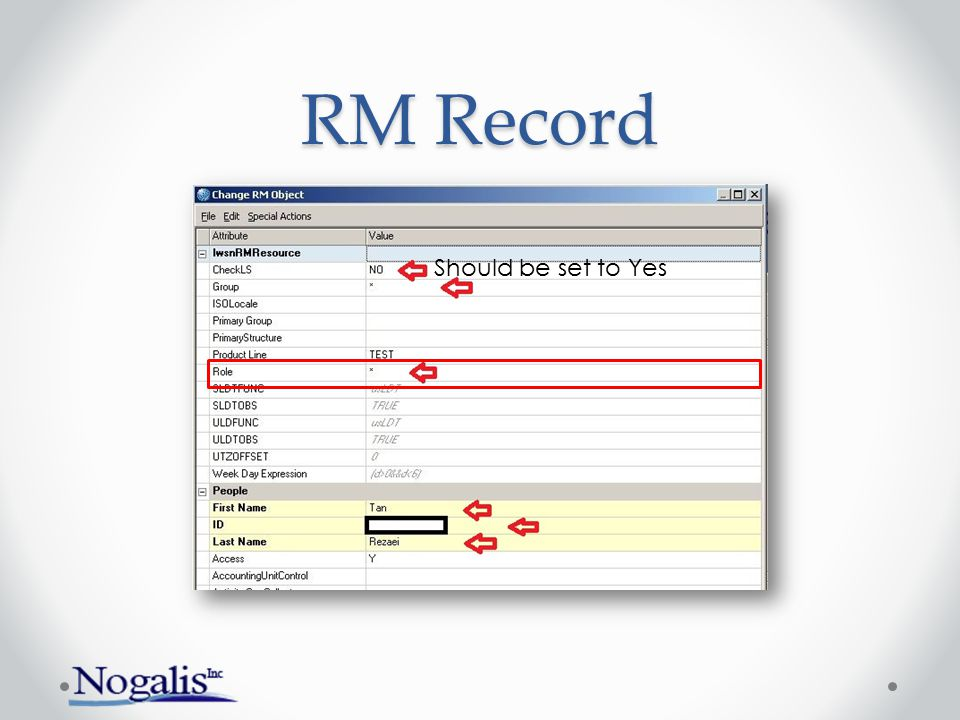 RM Record Should be set to Yes