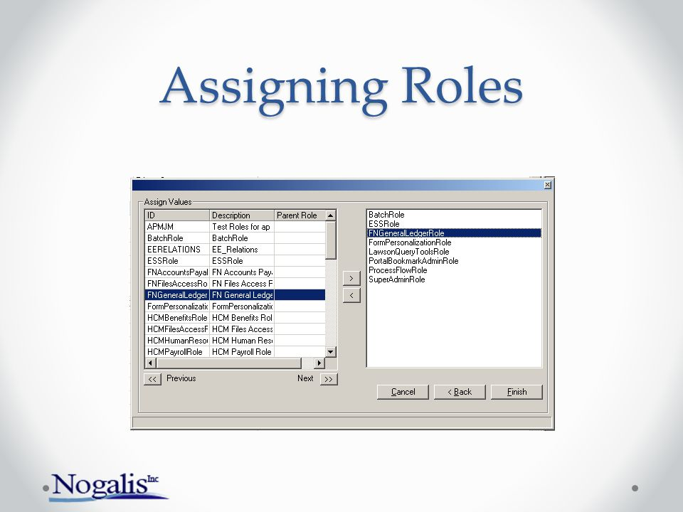 Assigning Roles