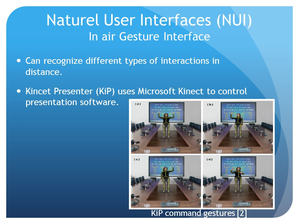 Naturel User Interfaces (NUI) In air Gesture Interface