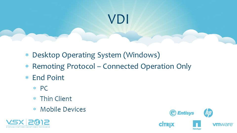 VDI Desktop Operating System (Windows)