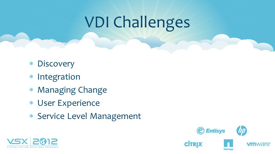 VDI Challenges Discovery Integration Managing Change User Experience