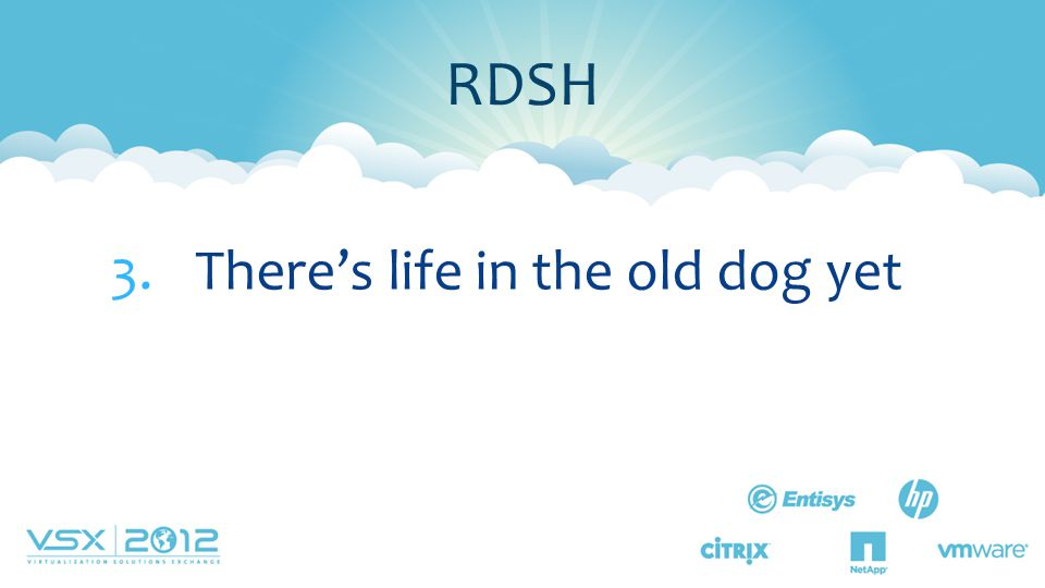 RDSH There's life in the old dog yet Lesson 3