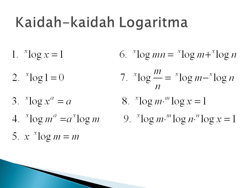 Kaidah-kaidah Logaritma