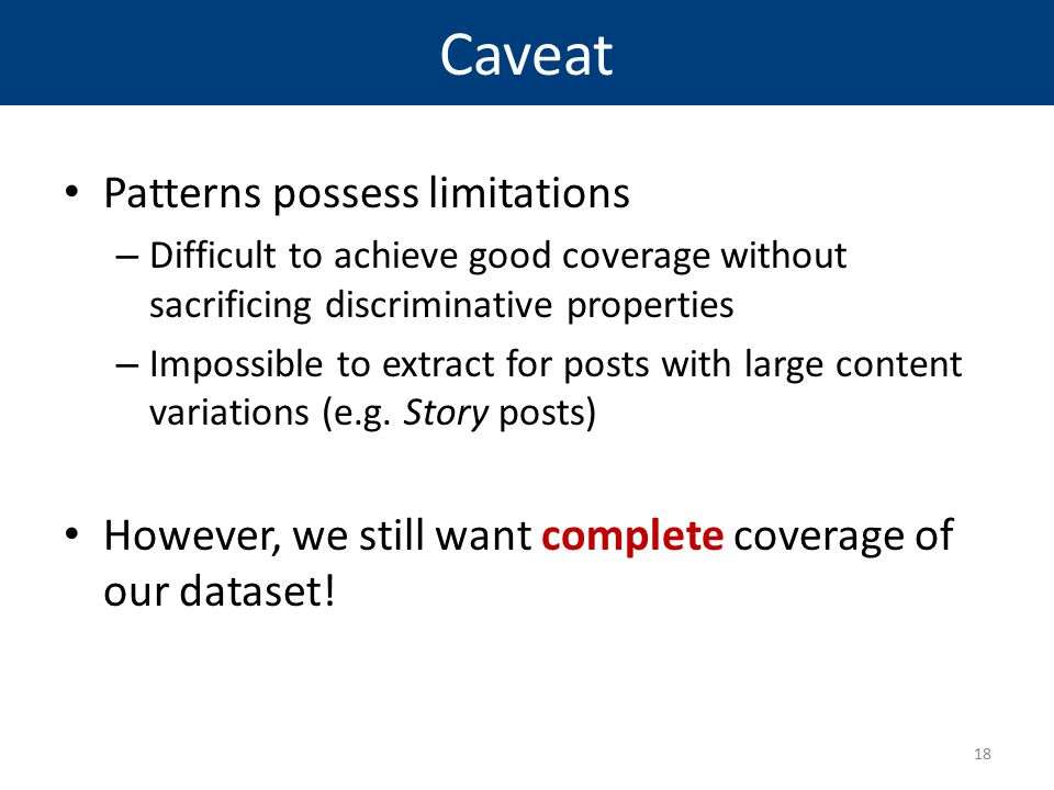 Caveat Patterns possess limitations