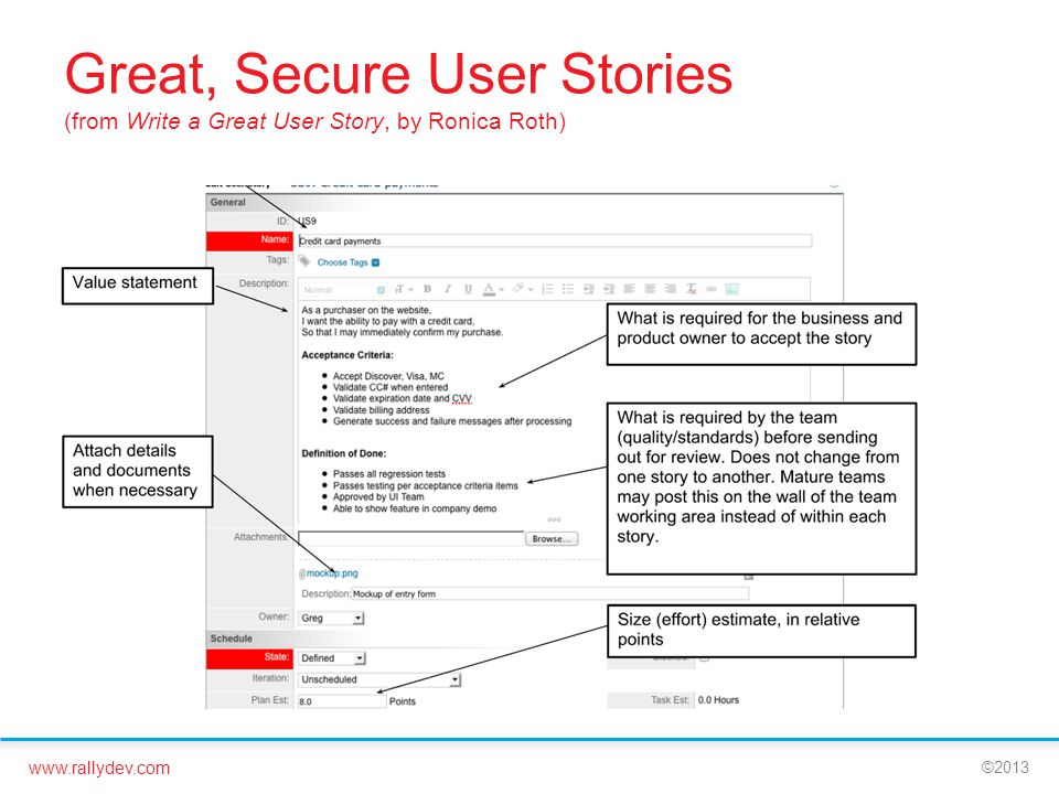 Great, Secure User Stories (from Write a Great User Story, by Ronica Roth)