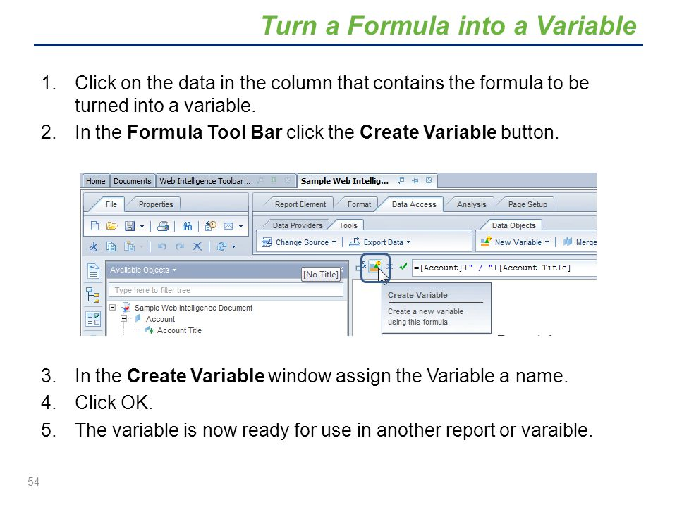 Turn a Formula into a Variable